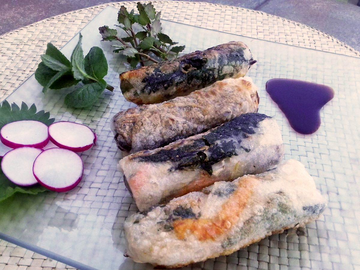 Spring rolls z pokrzywą